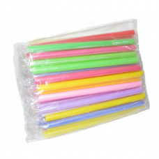 Трубочки Цветные в индивидуальной упаковке для Bubble Tea (Бабл Ти) 50шт/уп