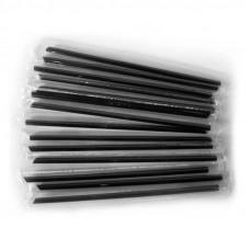 Трубочки Черные в индивидуальной упаковке для Bubble Tea (Бабл Ти)  50шт/уп
