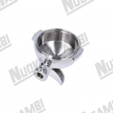 'NR' STAINLESS STEEL PORTAFILTER BODY 2CUPS - HANDLE M12 - SPOUT CONNECTION 3/8 BRUGNETTI/BFC/ECM/RST/SANREMO/SV ITALIA/VIBIEMME/WEGA